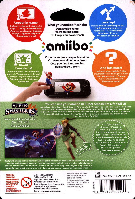 Nintendo Amiibo фигура - Link [Super Smash Bros. Колекция] (Wii U) - 7